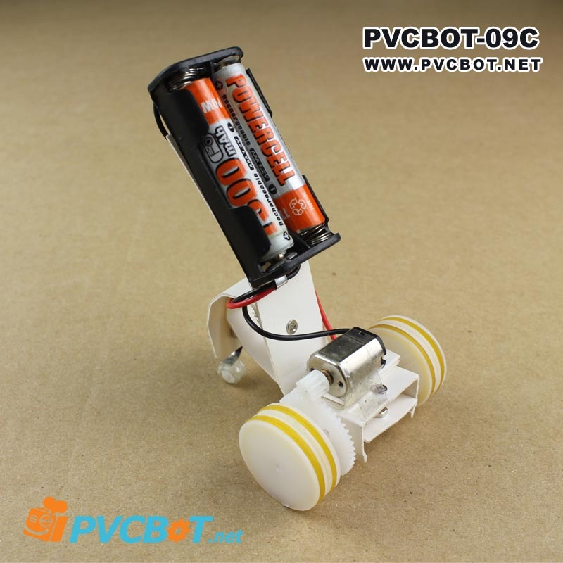 Pvcbot 9c diy two wheel balancing car in robot suite for Diy inventions household items