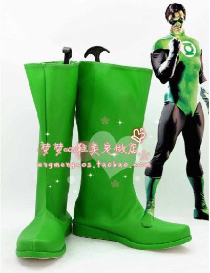 Venta caliente DC Comics linterna verde Cosplay Cosplay Shoes animado(China (Mainland))