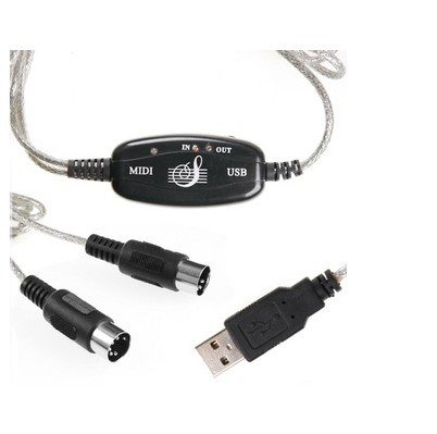 Retail NEW USB TO Keyboard PC MIDI Interface Adapter Cable High QUALITY!!!(China (Mainland))