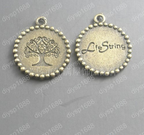 Free Shipping Wholesale DIY Antiqued Bronze Tone Vintage Alloy Lovely Round Cameo Setting 18*18mm Pendant Charms 60pcs A1193