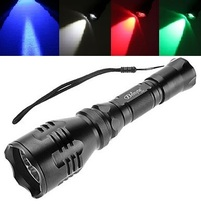 Brinyte B48 CREE XM-L2(U4) LED Waterproof Searching Hunting Camping Tactical Flashlight 4 colour lights white/blue/green/red - Best-Credit Store store