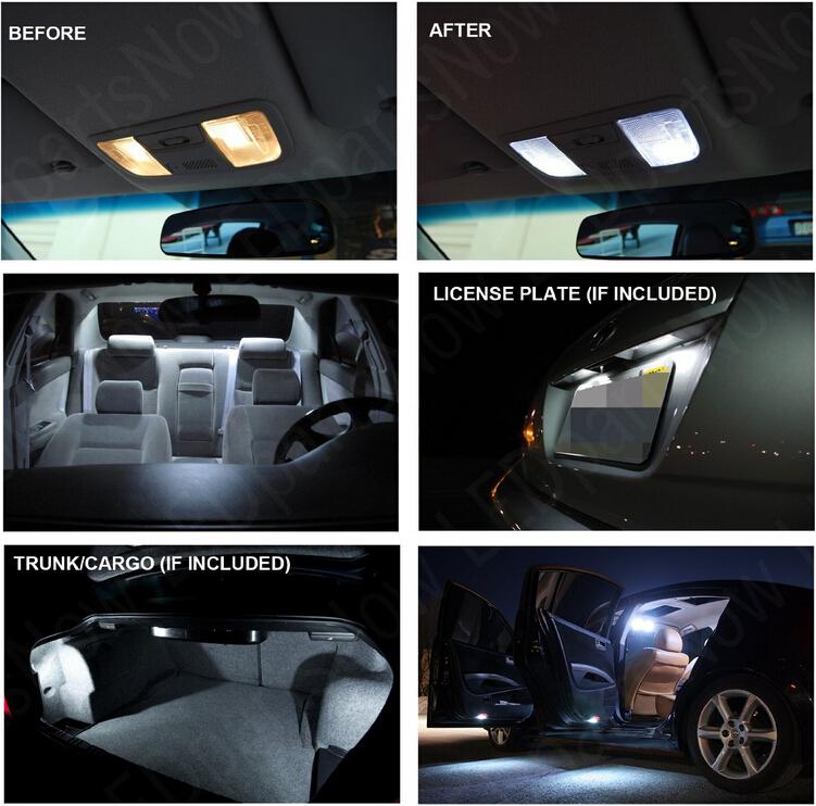 Бесплатная доставка 5 шт./лот ксеноновые лампы белого пакет комплект из светодиодов внутреннее освещение для хонда прилюд 1997-2001