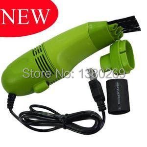 New USB Mini Vacuum Keyboard Cleaner For Laptop Computer PC Keyboard Green 7195 VF9(China (Mainland))