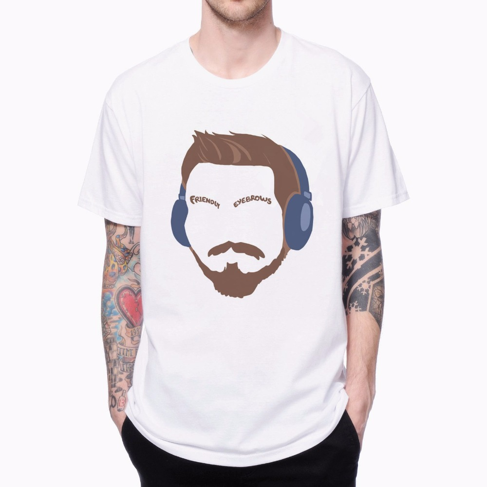 Design t shirt europe - Friendly Eyebrows Portrait T Shirts 1704151 Europe Size Male Hipster Top Tees Casual 3d Design Print