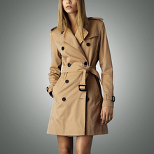 Hot sale 2016 Spring Autumn Brand Casual Trench coat for women Plus Size Long Double breasted Slim Windbreaker Outerwear Coats(China (Mainland))