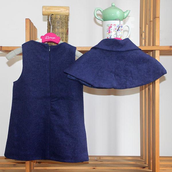 atumen и зимой без рукавов платье с плащ для девочки ребенка
