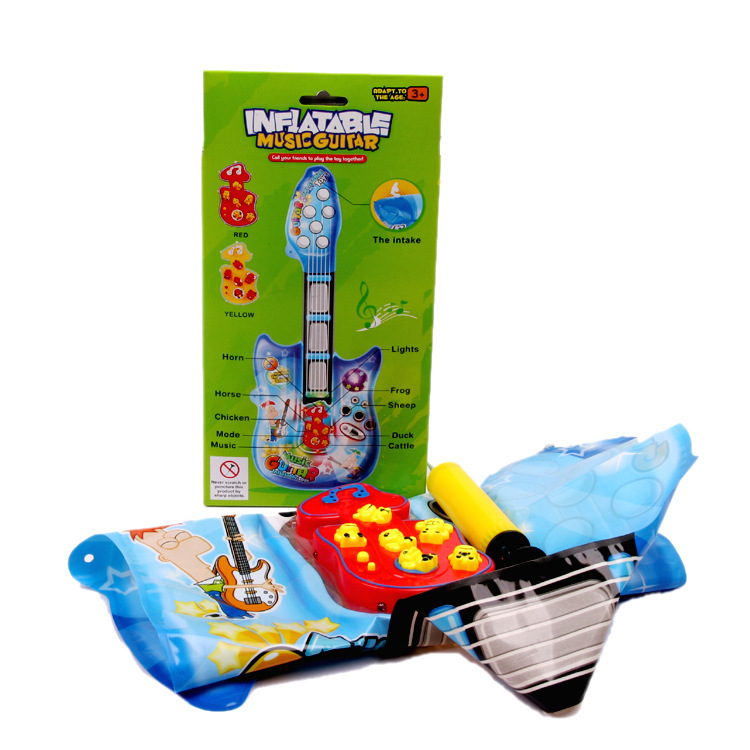 Inflatable guitar toys simulation preschool musical instruments Best seller Children Baby Musical Toys(China (Mainland))