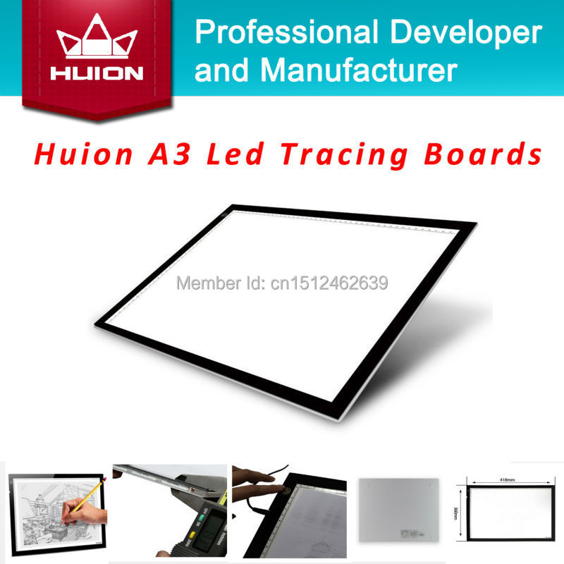 Huion A3 LED Light Boxes Tracing Board Acrylic Panels Professional Tattoo Light Pad Animation Cartooning Handwriting Board Black(China (Mainland))