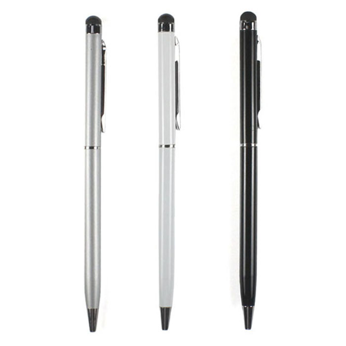 Wholesale 3X 2in1 Capacitive Touch Screen Stylus For IPad IPhone ipod Touch Stylus For Mobile Phone(China (Mainland))