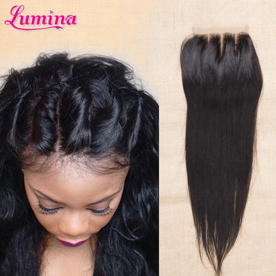 Brazilian Virgin Hair Closures Top Brazillian Straight Lace Closure Bleached Knots Clousure 3 Free Part Human Hair Closure Piece(China (Mainland))