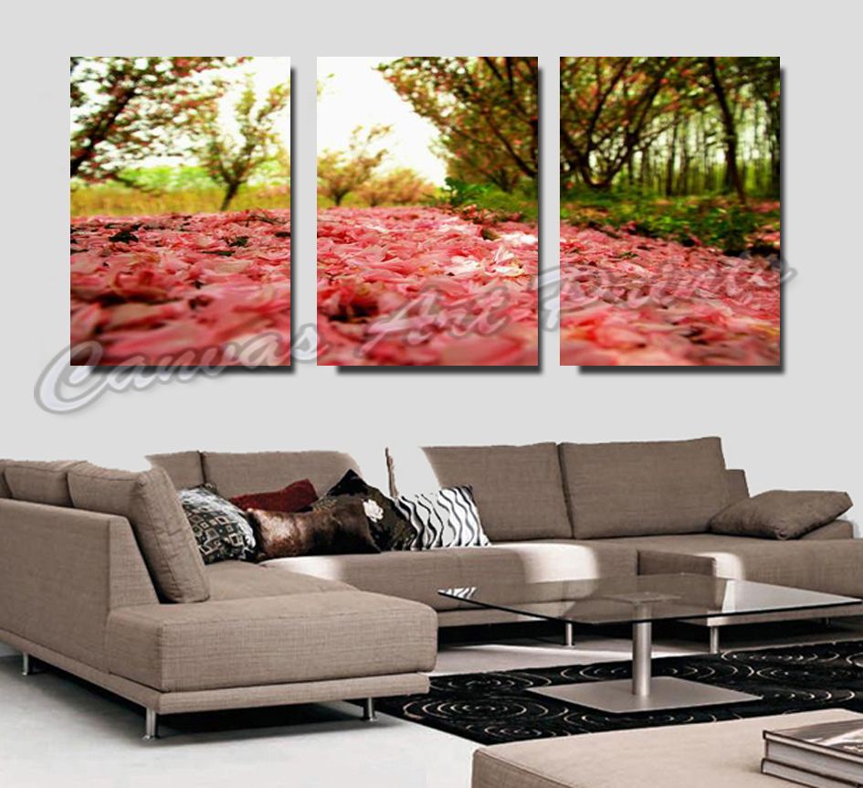 Modern living room wall decor painting 3 piece art sets for Piece of living room decor