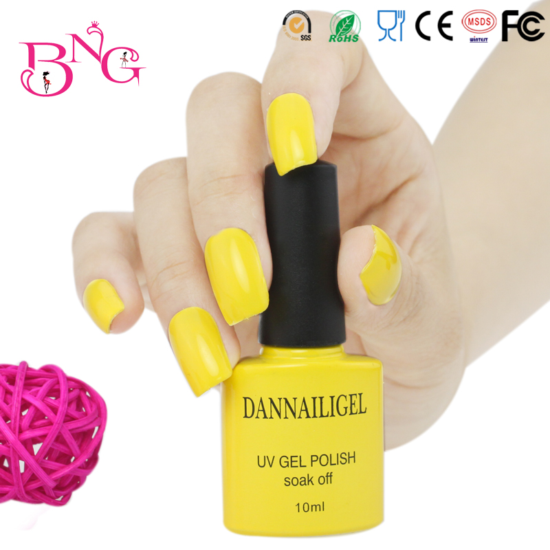 #29 Dannail Yellow Color 10ml Long Lasting Soak UV Gel Nail Polish Nail Art UV Manicure Cosmetic Blink Gel Beauty Care