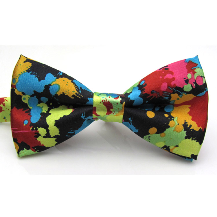 Charming Adjustable Colorful Butterfly Printing Men Bow Ties Wedding Party Essentials Tie-010(China (Mainland))