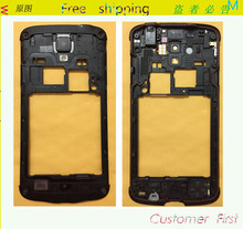 Original Parts Middle Plate Frame Bezel Back Housing For Samsung I9295 I537 Galaxy S4 Active Black Color , Free Shipping(China (Mainland))