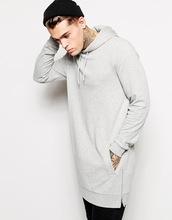 Британский стиль толстовки хип-хоп уличная длинные молнии срез расширенный футболка мужчин Tyga спортивной Bape толстовка свободного покроя топы