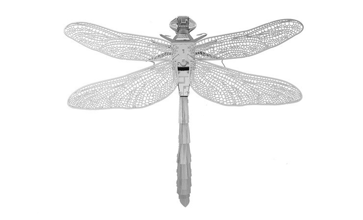 Full Metal Stainless Steel 3D Assembly DIYstereo Jigsaw Dragonfly Model Puzzle for Chilrdren's Gifts(China (Mainland))
