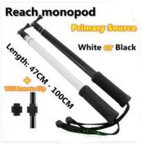 Gopro accessories Reach Telescoping Extension Pole with Clip Aluminium Monopod 45-100cm for GoPro Hero 4 hero 3/ 3+/SJ4000