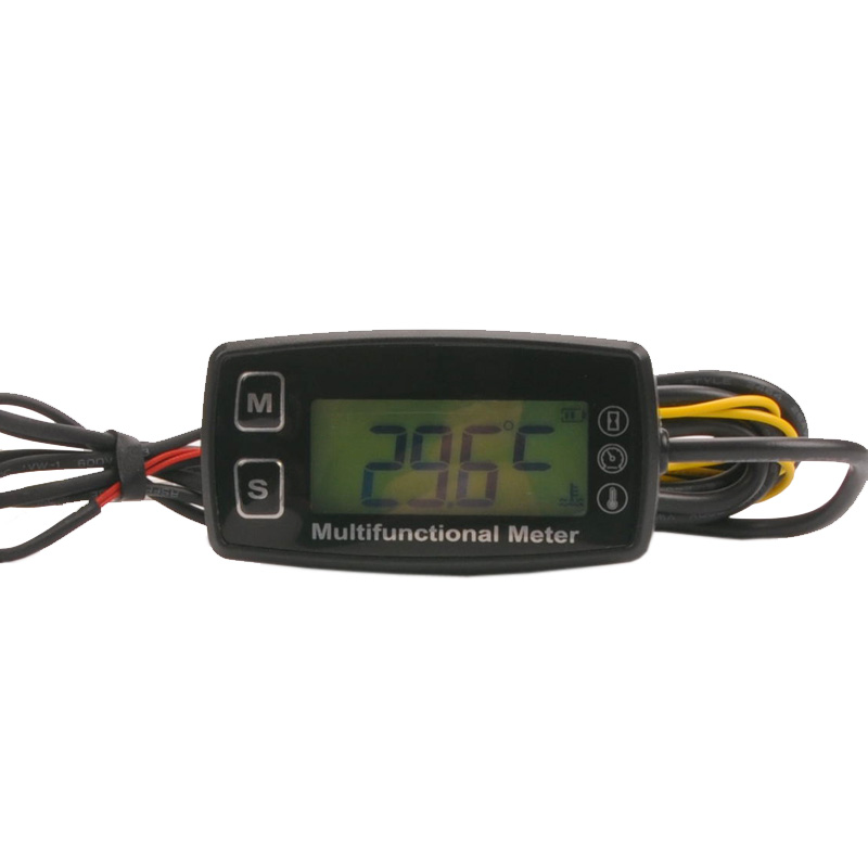 Digital LCD RL HM035T tachometer hour meter thermometer temperature for gas UTV ATV outboard buggy tractor