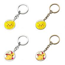 4 Colors Hot Sale Pokemon Keychain Diamond Pokemon Go Alloy Pendant Anime Pikachu Pokemon Action Figures Pendants For Sale