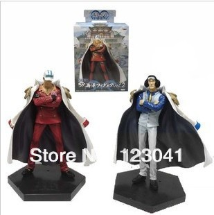 Free shipping 2pieces/lot Japan Anime One Piece PVC Figure Toy 20cm DX Navy PVC Figure Toy with box package(China (Mainland))