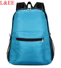 New 2016 Portable folding backpack Outdoor travel Hiking Bag Nylon waterproof Casual backpack Day Pack School bag(China (Mainland))
