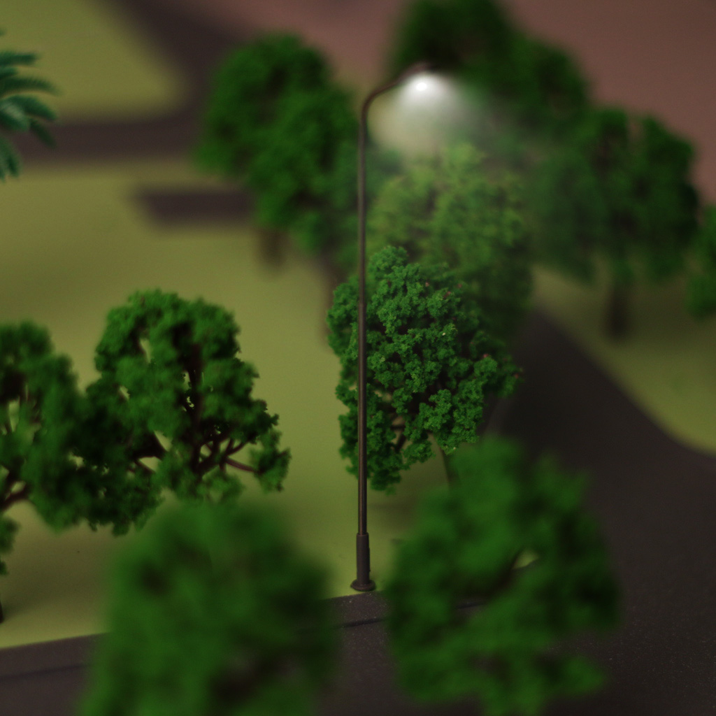 50pcs Model Garden LED Lamppost Lamp Lights Layout Train 1:100  Scale completed with wires and bulb decorate your model layout