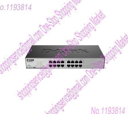 D-Lin-k DES-1016D 16 Port Full Gigabit Network Switch On The Rack