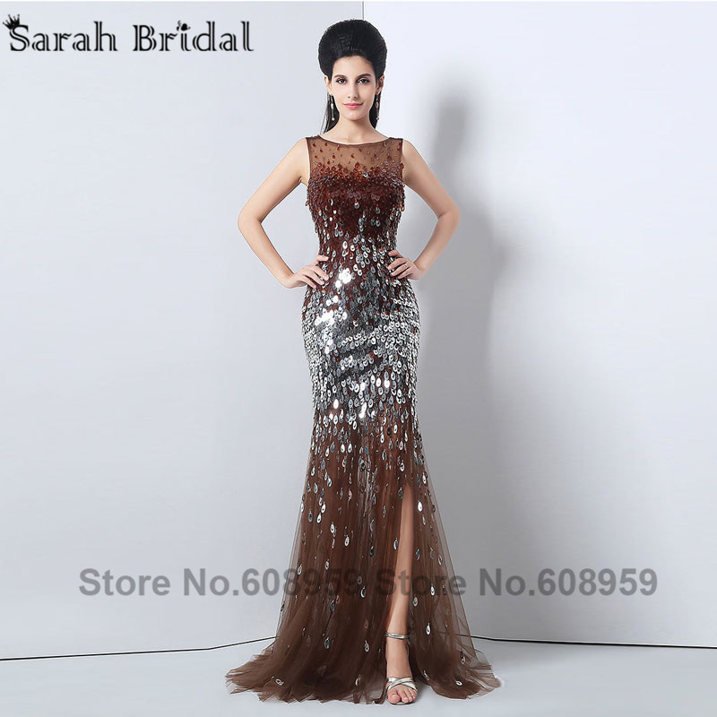 Popular Brown Sequin Prom Dress-Buy Cheap Brown Sequin Prom Dress ...