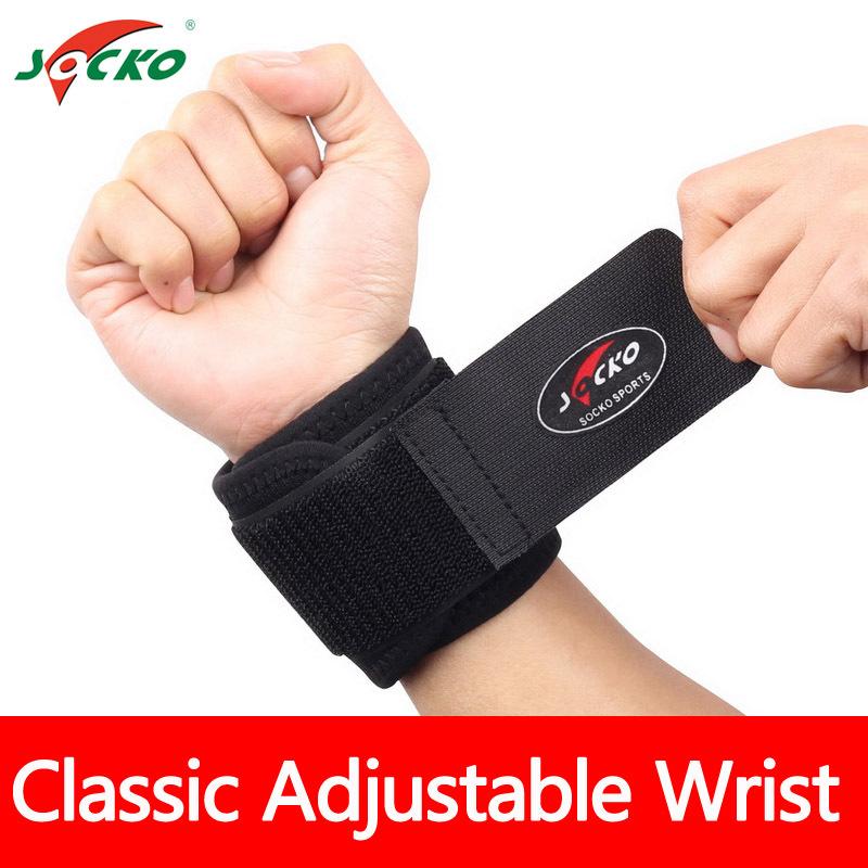 2 PCS Universal Free Shipping Classic Sports Elastic Stretchy Wrist Joint Brace Support Wrap Band - Black(China (Mainland))