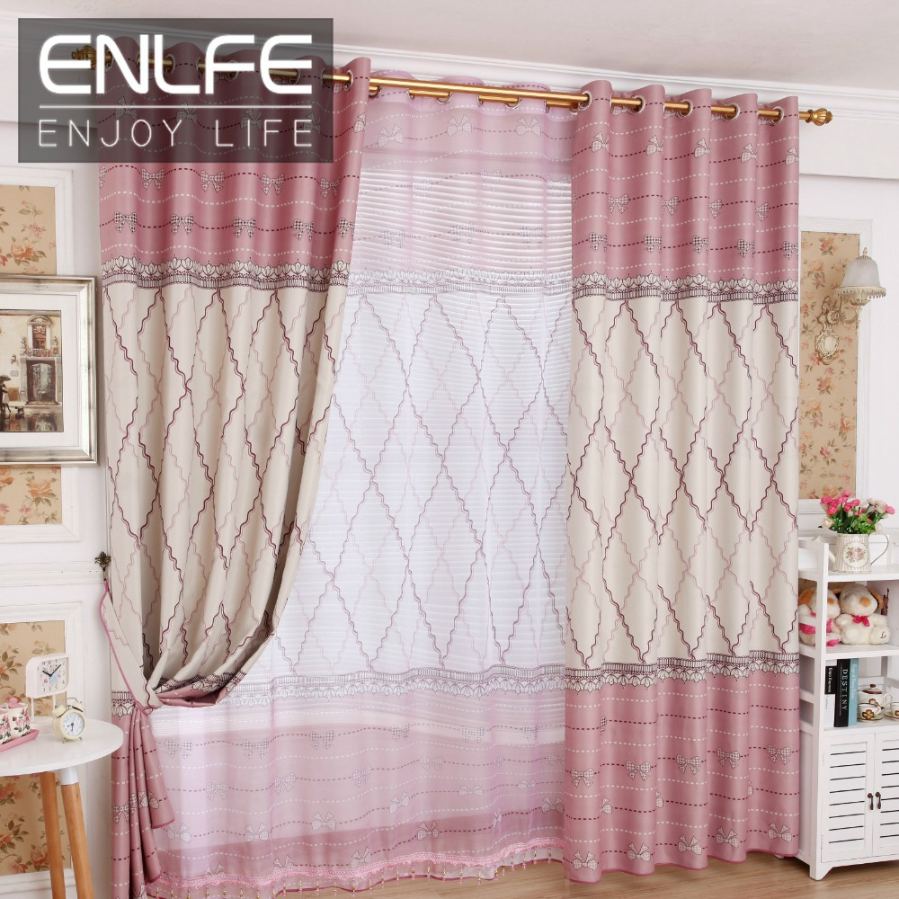 enlfe free shipping one curtain set for living room light pink 150 250cm cloth curtain. Black Bedroom Furniture Sets. Home Design Ideas