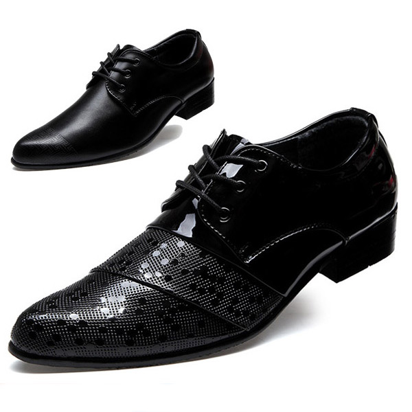 British Men Oxfords Fashion Casual Leather Shoes Black Color Spring Autumn Male Flats Sapatos Masculinos Social Zapatos Hombre<br><br>Aliexpress