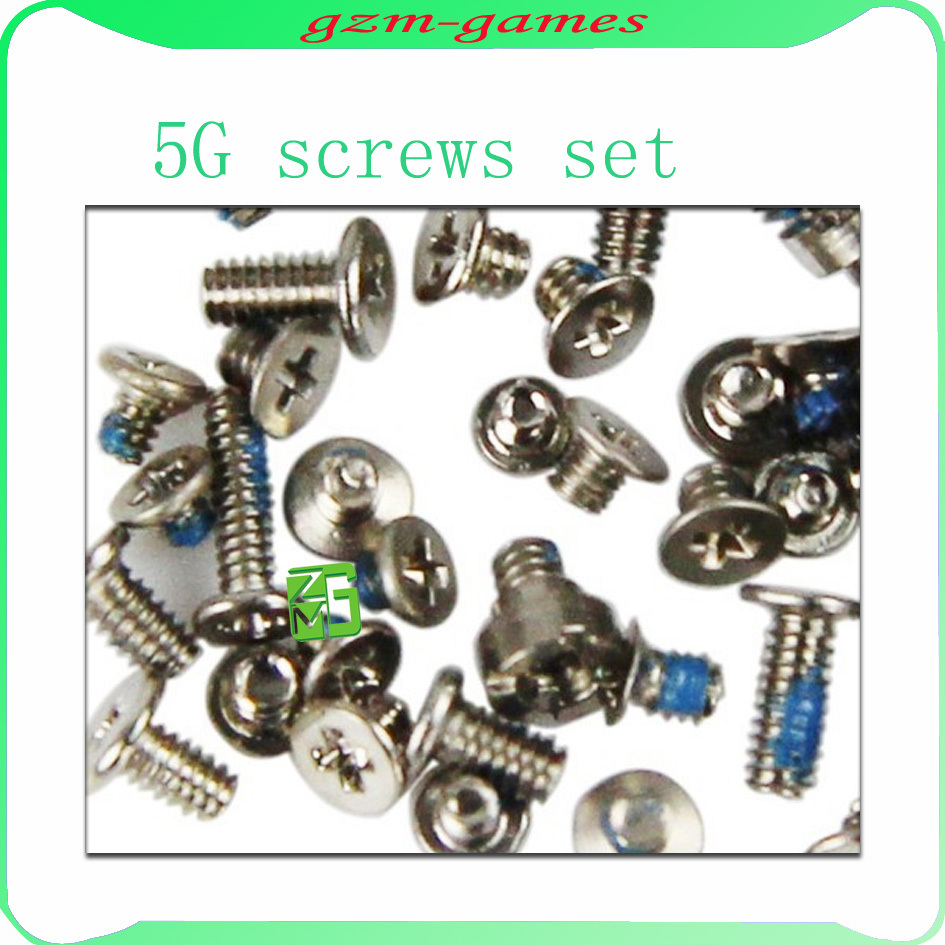 5set/lot For iPhone 5 5G Full Screws Set Kit with 2 bottom star screw Free shipping original new