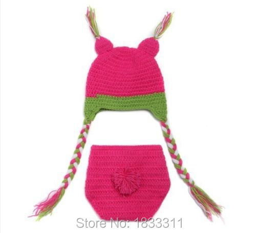 Newborn Baby Clothes Outfit Girl Infant Knit Crochet Pink Owl Costume Photo Prop(China (Mainland))