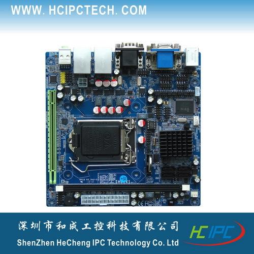 HCIPC M4211-1 ITX-HCM61X62A,LGA1155 H61 Mini ITX Motherboard,PCIE 16X,6COM,2GigaLAN,SPDIF,GPIO,8USB,VGA+DVI,1Desk DDR3,ATX(China (Mainland))