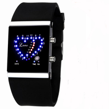 Black Butler Cosplay Ciel Phantomhive Cartoon Logo LED Loving Heart Wrist Watch Orologio Bracelets(China (Mainland))
