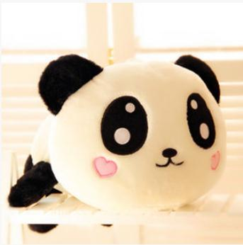 Cute Stuffed Animals Best Birthday Gift High Quality Of 35 cm Panda Plush Toys Lie Prone To Lie Prone Bear Holiday Gifts(China (Mainland))