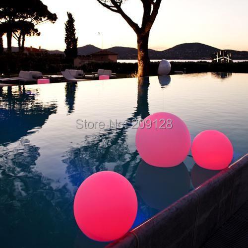 20cm RGB Waterproof IP68 Led Floating Lamp<br><br>Aliexpress