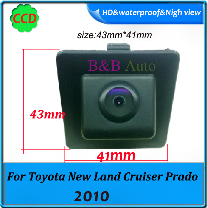 "CCD 1/3"" Reverse back Hot sell Car Parking camera For Toyota New Land Cruiser Prado 2010 car rear view camera(China (Mainland))"