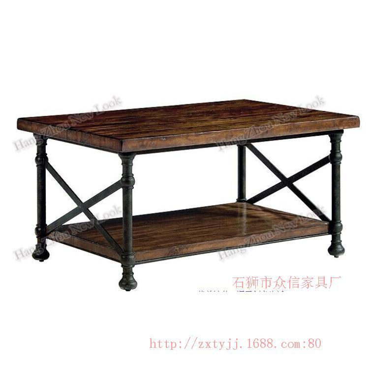 Wholesale LOFT retro style to do the old wrought iron coffee bar tables living room coffee table can be customized(China (Mainland))