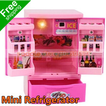 Mini Simulation Applicances Refrigerator Toy Kids Electric Furniture Toy Girls Gift Box Educational Classic Toy Free Shipping(China (Mainland))
