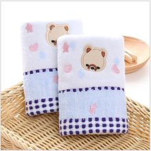 25*50 cm Toalla de algodón de alta calidad para bebé Oso de dibujos animados pañuelo de paño para bebé niños Toalla de paño de alimentación(China)