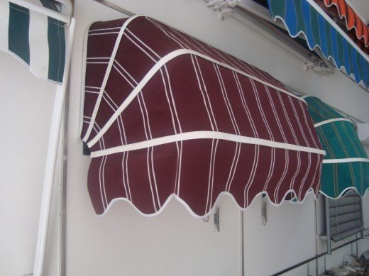 french dome  window awning