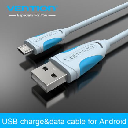 Vention 1m Micro USB Cable Mobile Phone Charging Cord 2.0 Data sync Charger Cablefor Samsung galaxy Android Phones(China (Mainland))