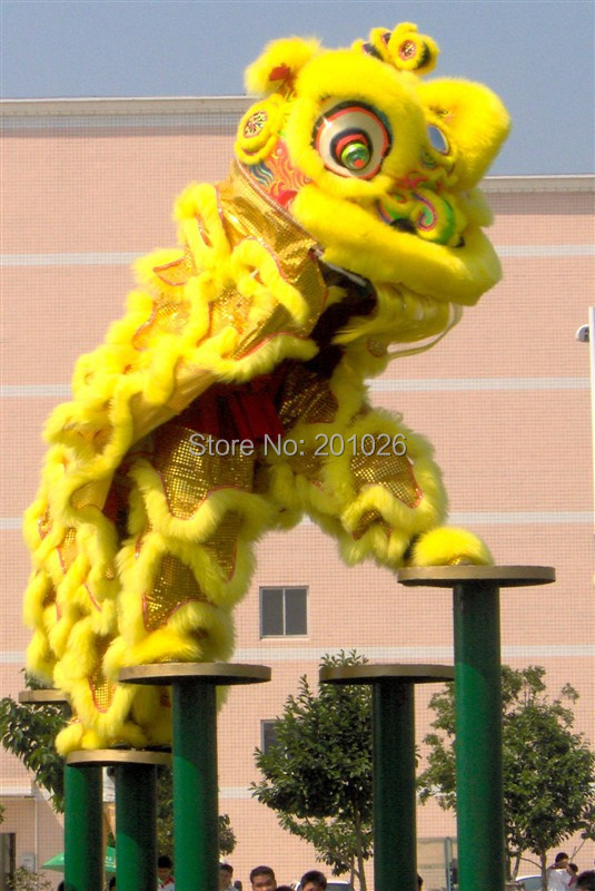 high quality pur Lion Dance Costume made of pure wool Southern  Lion Adult size chinese Folk costume(China (Mainland))