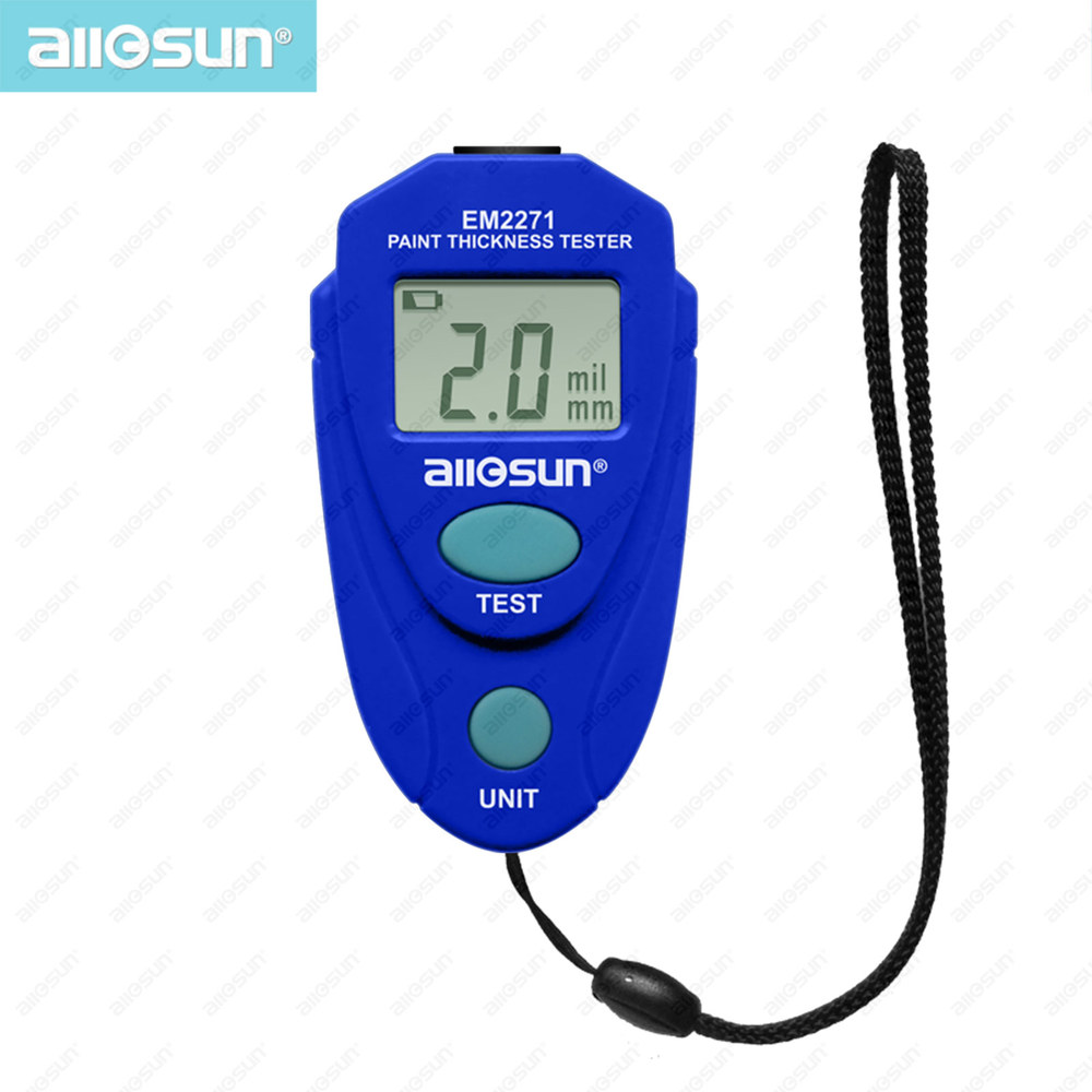 Digital Thickness Gauge Coating Meter Car Thickness Meter Russian Manual EM2271 all sun ship from EasternEurope