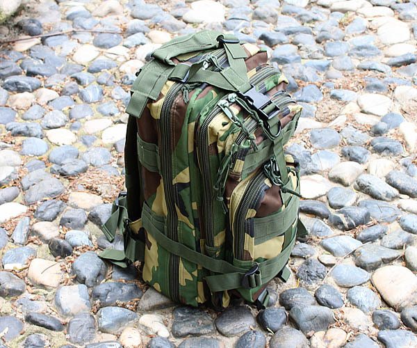 20L Army Molle 3 Day Pack 3P Assault Tactical Military Camping Backpack Bag Woodland camo bag(China (Mainland))