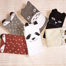 Toddler New Totoro Design Knee High Baby Socks Girls Boys Fall Winter Leg Warmers Fox Socks Knee Pad Meia