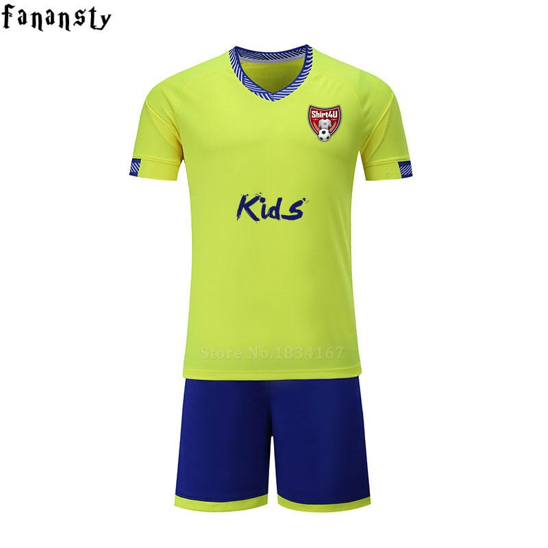 Cheap football jerseys kids custom boys soccer jersey breathable football uniforms voetbal tenue kids 2017(China (Mainland))