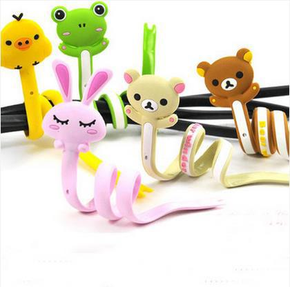 kawaii cartoon animals style cable line winder / mobile earphone cable bobbin winder cable holder organizer 5pcs/lot ARC588(China (Mainland))