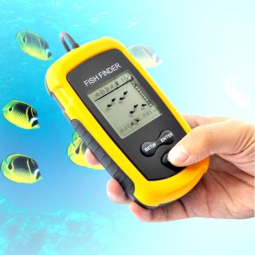 New Portable Sonar Sensor Fish Finder Alarm 100M Depth Capturing Transducer Fishing Products(China (Mainland))
